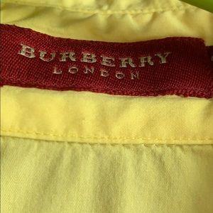 Burberry yellow shirts